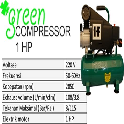Kompresor Green Harga Jual Green G Ac1012 1 Kompresor Angin Udara