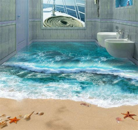 resin bathroom floor 3d floor covering from epoxy innovative technology and