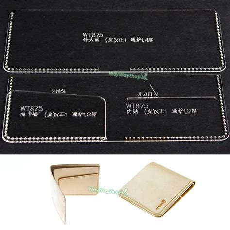 leather card wallet template popular leather crafts patterns buy cheap leather crafts