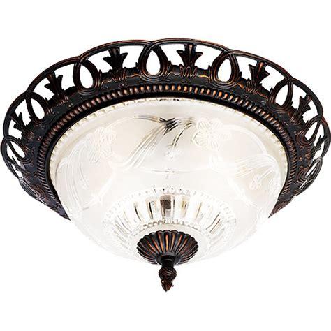 walmart ceiling light fixtures hton elizabeth flush mount ceiling light tuscan bronze