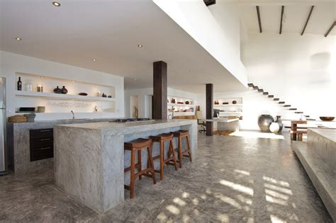 concrete kitchen design white gray concrete kitchen interior design ideas