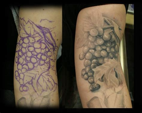 grapevine tattoo designs freehand vineyard grapes by jesserix deviantart on