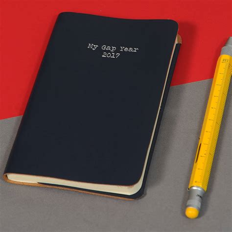 Pocket Notebook his gap year leather pocket notebook by undercover notonthehighstreet