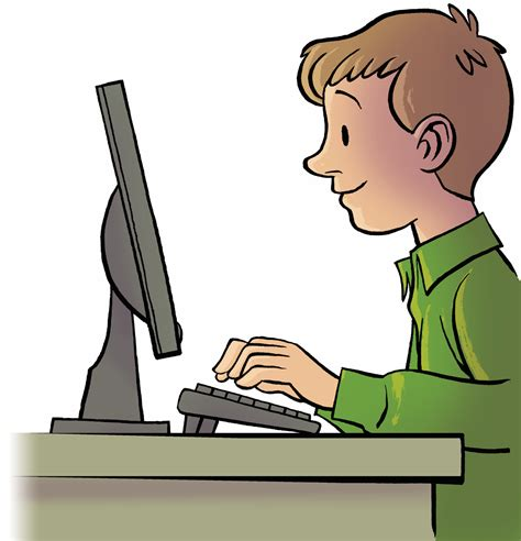 on computer person typing on a computer clipart www pixshark images galleries with a bite