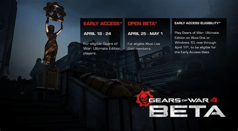 multiplayer console war gears of war 4 multiplayer beta kicks on april 18