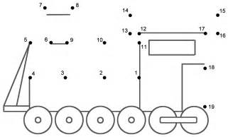 Train 3  Connect The Dots Count By 1s Transportation sketch template