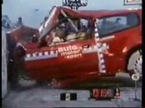 honda civic old model crash test (death trap) youtube