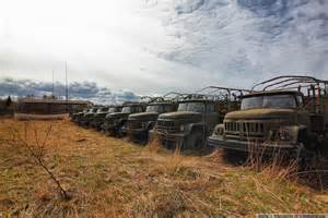 Deserted places inside an abandoned secret russian military base