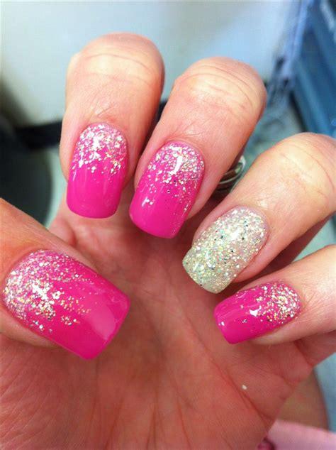 hot pink glitter nails www pixshark com images