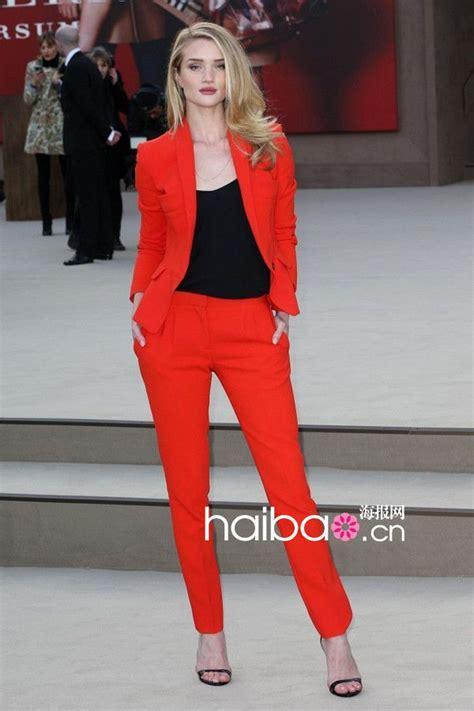 black orange runway jacketblazer pant classic suit womens