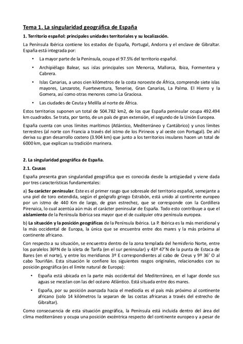 T.1 singularidad geográfica de España