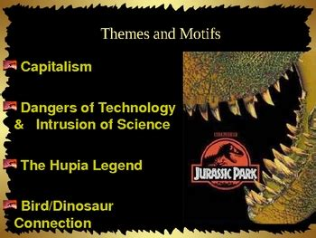 themes of comparative literature jurassic park themes and concepts powerpoint by