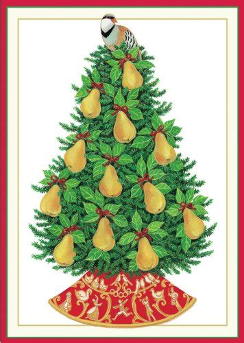 caspari quot partridge in a pear tree quot christmas cards 4 by