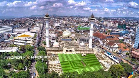 Drone Bandung peresmian wajah baru alun alun bandung aerial hd