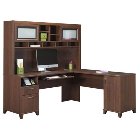 l shaped computer desks with hutch store your all office items through computer desk with