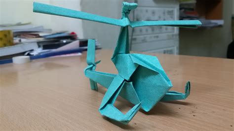 Make Paper Helicopter - origami how to make a paper helicopter