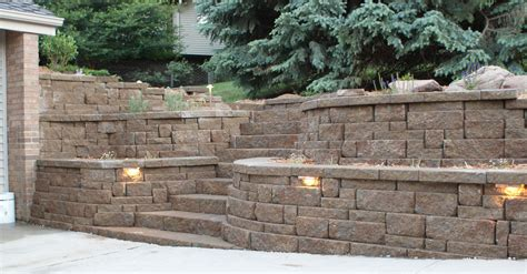 Retaining Wall Design Retaining Walls Portfolio Of Images Omaha Landscape Design