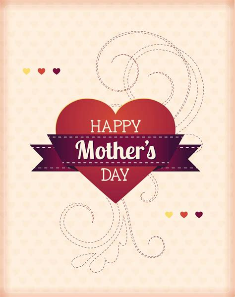s day vector mother s day with hearts card vector free