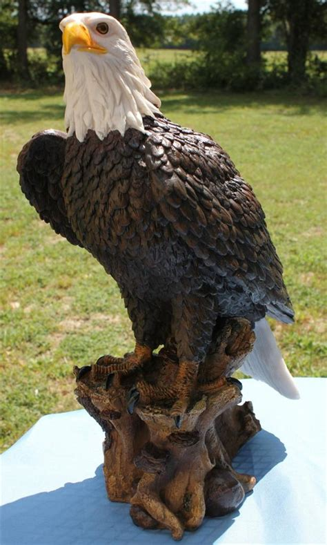 new large bald eagle statue sculpture figurine 17 quot tall ebay