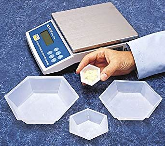 weighing boat chemistry seoh plastic hexagonal weigh boats small dish 100pk