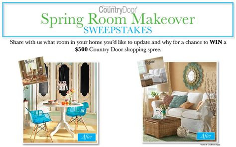 Remodel Sweepstakes - spring room makeover sweepstakes