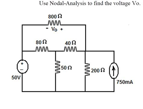 nodal analysis voltage across resistor electrical engineering archive february 18 2013 chegg