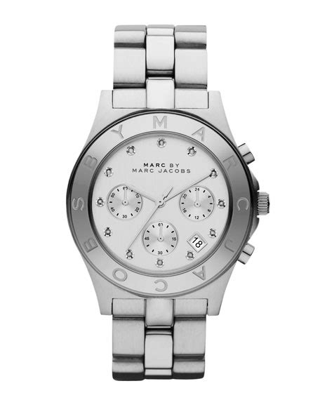 Marc Uhren by Marc By Marc Blade Stainless Steel Chronograph