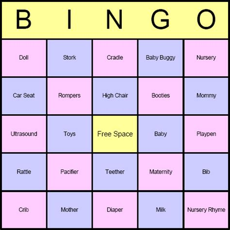 baby bingo template printable blank baby shower bingo images pictures photos bloguez