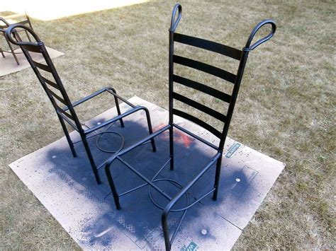 painting metal chairs 10 best images about diy used metal on metal