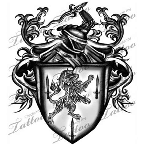 sword and shield tattoo sword crest shield design