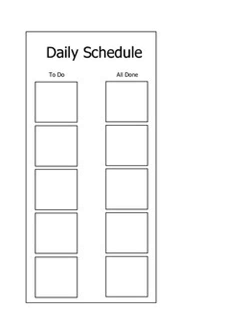 Visual Schedule Template Autism Awareness Visual Schedule Freebie Tpt