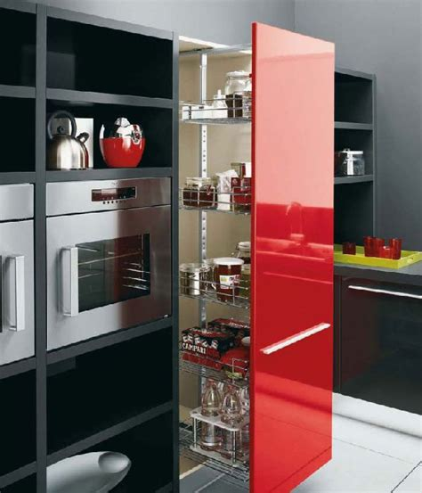 contemporary kitchen furniture graphite kitchen units gloss red white and black modern