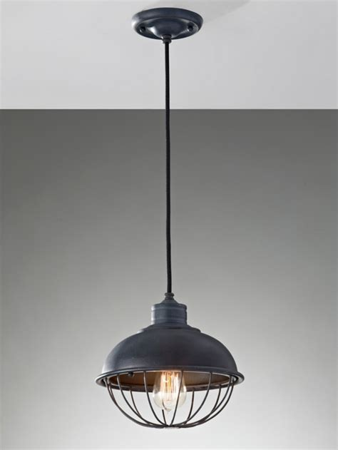 Industrial Ceiling Lighting Industrial Ceiling Light With Caged Shade