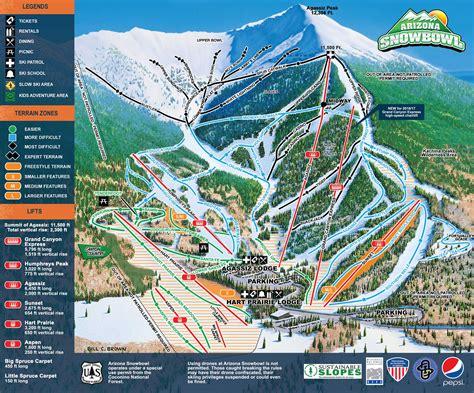 arizona ski resorts map resort map arizona snowbowl