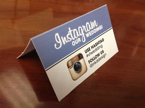 Instagram On Business Card