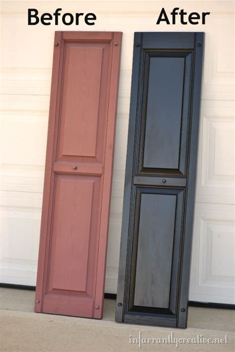 spray painting vinyl shutters