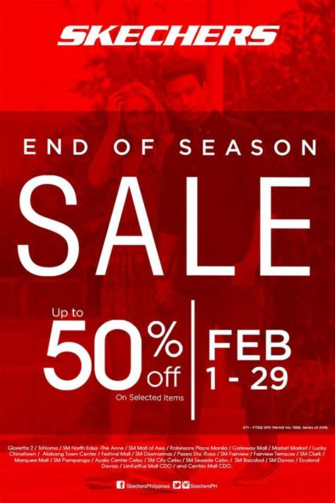 Forget Calendars Its All About The Arcadia Sales by Skechers End Of Season Sale Feb 1 To 29 2016 Manila