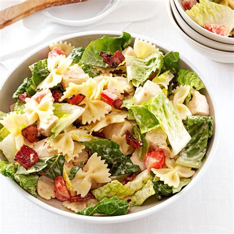 pasta sald blt bow tie pasta salad recipe taste of home