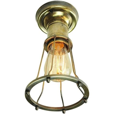 Style Ceiling Lights by Ceiling Bulb Holder Light With Antique Metal Cage And Vintage Bulb