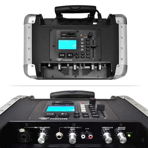 pylepro pcmx265b portable pa system with usb port sd
