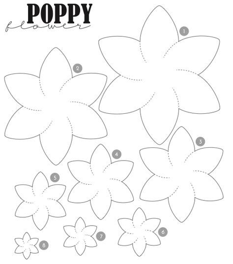 made templates from poppy illustrations to ensure every