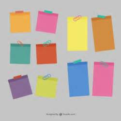 Post It Label Templates by Colorful Sticky Notes Vector Free