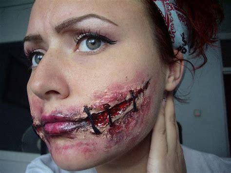 tattoo sewn lips halloween sewed mouth rada alexandra maria
