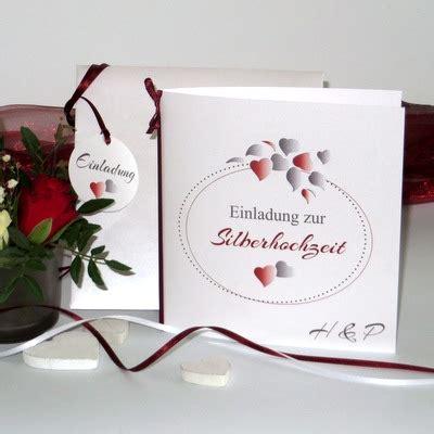 Einladung Silberhochzeit Modern by Einladungen Zur Silberhochzeit Einladungskarten Und Mehr