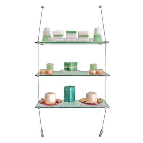 vw2 wall suspended glass shelving