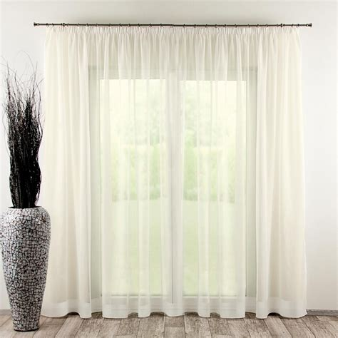 98 inch curtains pencil pleat voile net curtain ivory 130 x 250 cm 51 x