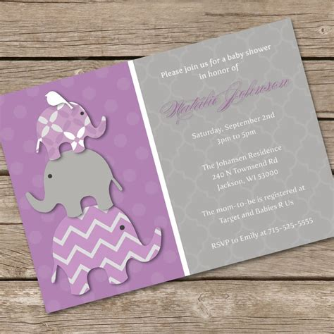 elephant themed baby shower invitations theruntime