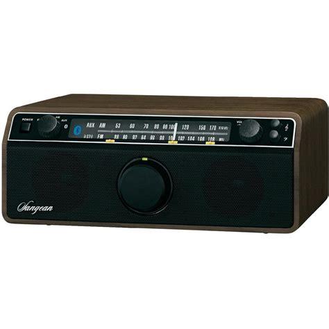 Fm Table Top Radio Sangean Wr 12 Bt Walnuss Aux Bluetooth