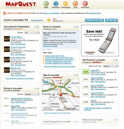 mapquest homepage images