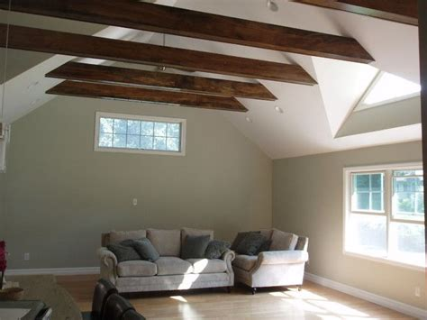 exposed beam home interior magazine how to install crown molding on a
